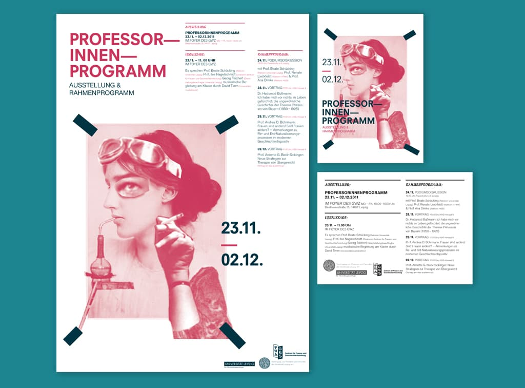Professorinnen-Programm_Plakat-Flyer-Illustration